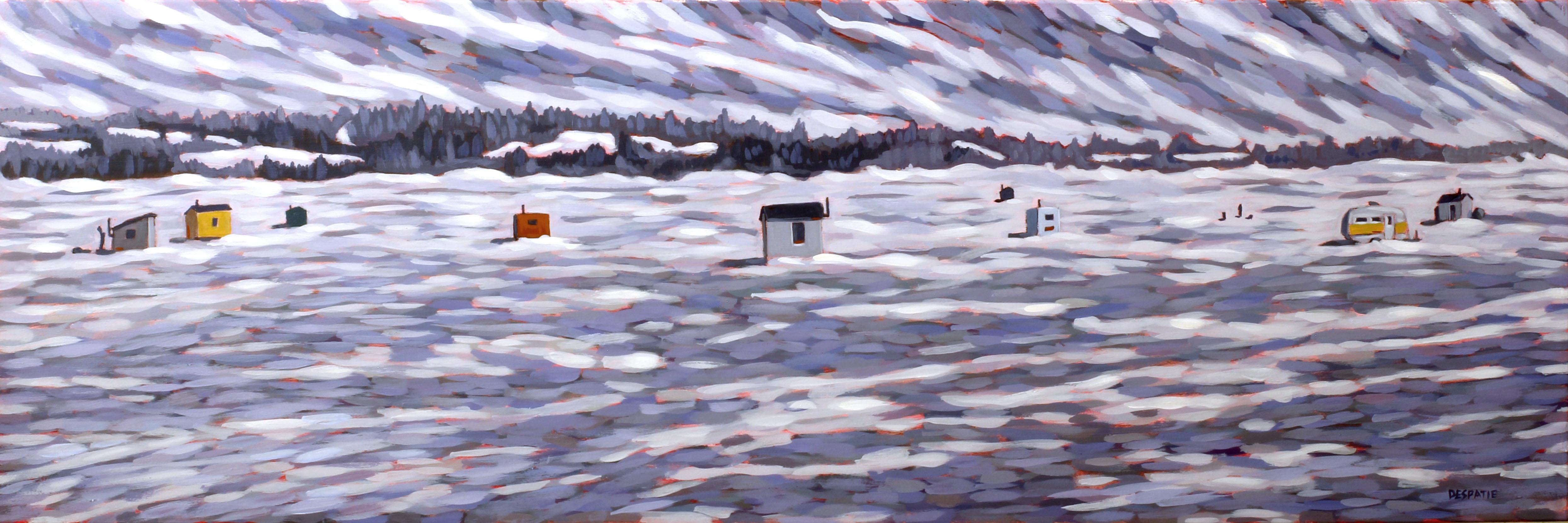 Ice Huts at Bewdley by Luke Despatie